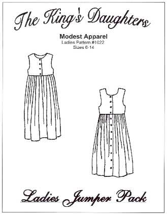 Ladies Jumper Pack Pattern-modest jumper, jumper, pattern, ladies, pattern for, button-front, ladies, sewing, lined