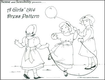 Girl's 1914 Dress Pattern