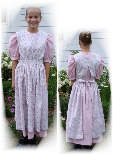 Ladies Jewel's Apron Pattern-Jewels apron pattern, pioneer apron, pinafore pattern, pinafores, laura ingalls, costume, aprons
