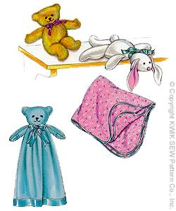 Kwik Sew� Stuffed Toy & Blanket Pattern