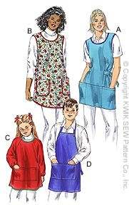 Kwik Sew� Ladies & Childrens Aprons Pattern-apron pattern, smock pattern, kids apron, patterns for aprons, apron patterns, aprons,