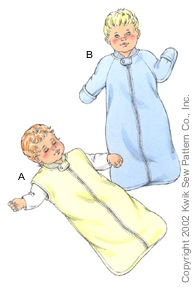Kwik Sew� Baby Sleep Sack Pattern-kwik sew 3089, kwik sew, baby, sleep sack, pattern, bag, bunting, patterns, fleece, how to sew