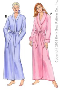 Kwik Sew� Misses Robes Pattern-robe pattern, robe, pattern, pattern for, kwik sew, fleece, knit