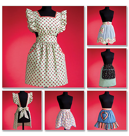 Ladies 1950's Vintage Aprons pattern-Ladies 1950's Vintage Aprons pattern
