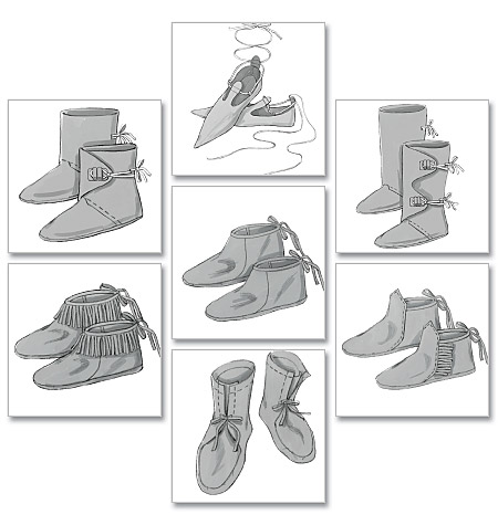 Historical Footwear pattern-Historical Footwear pattern