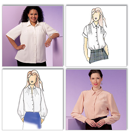 Ladies  Plus-Sized Blouse Pattern-Ladies  Plus-Sized Blouse Pattern