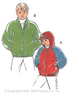 Kwik Sew� Boys Jacket Pattern-Kwik sew, kwiksew, boys jacket pattern, boys coat, jacket, pattern, patterns, boys, jackets, raglan