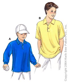 Kwik Sew® Boy's Casual Shirts Pattern