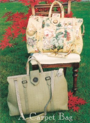 "Free SHIP Sew Liberated ""Bohemian Carpet Bag"" Pattern 