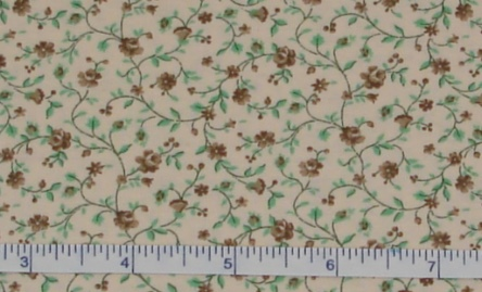 Fabric - Tiny Brown Roses-Fabric - Tiny Brown Roses Calico