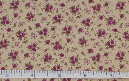 Fabric - Mauve Roses / Tea-Stained-Fabric - Mauve Roses / Tea-Stained