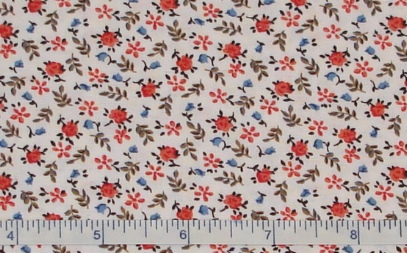 Fabric - Burgundy Rosebud Calico