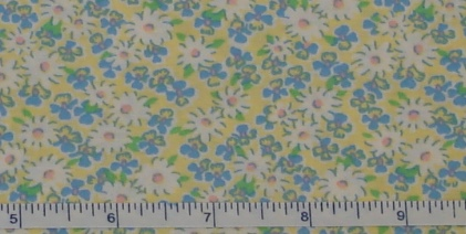 Fabric - Yellow Daisy Calico-Fabric - Yellow Daisy Calico