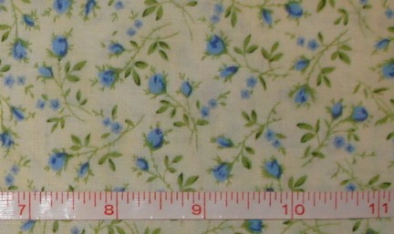 Benartex - True Blue - Dolly Garden Cream/Blue-Benartex - True Blue - Dolly Garden Cream/Blue