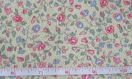 Fabric - CCF - yellow Country Floral, bty