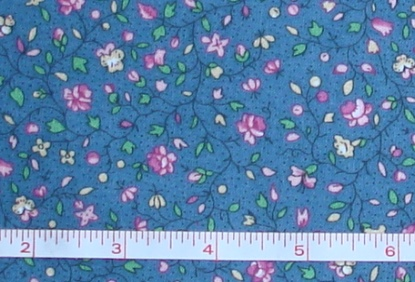Fabric - CCF - dk blue Country Floral, bty