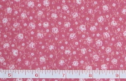 Fabric - CCF - pink Flower Bunches, bty