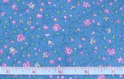 Fabric - CCF - med. blue Country Floral, bty