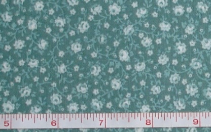 Fabric - CCF - green Flower Bunches, bty-Fabric - CCF - green Flower Bunches, bty