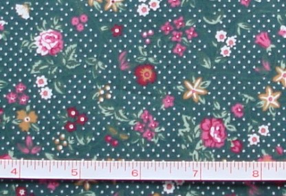 Fabric - CCF - green Flower Showers, bty
