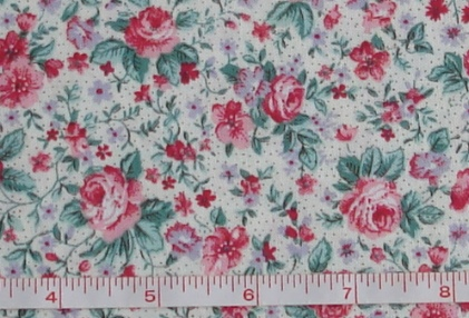 Fabric - CCF - cream Wild Rose Floral, bty