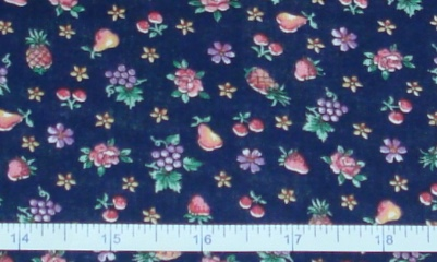 Fabric - Roses & Fruit on Navy