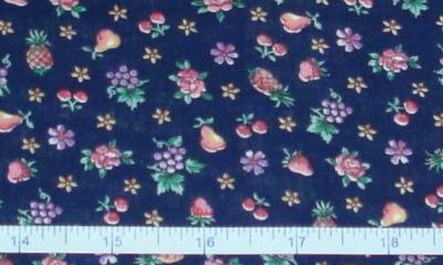 Fabric - Roses & Fruit on Navy