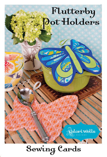 Flutterby Pot Holders - Sewing Card