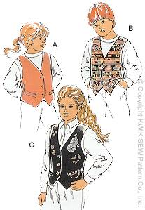 Kwik Sew� Boys & Girls Vest-Kwik Sew� Boys & Girls Vest