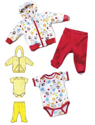 Kwik Sew Baby Jacket, Pants & Romper