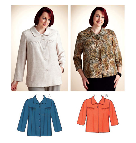 Kwik Sew� Ladies Plus-Sized Jacket/Blouse-Kwik Sew� Ladies Plus-Sized Jacket/Blouse