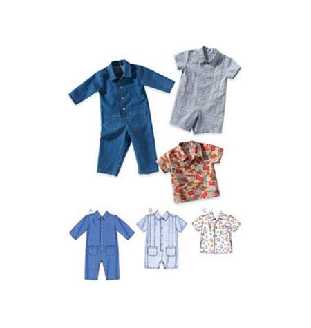 Kwik Sew Baby Overalls Romper & Shirt pattern