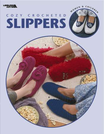 Cozy Crocheted Slippers booklet-Cozy Crocheted Slippers booklet