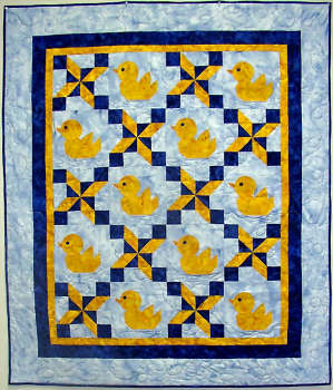 Little Rubber Ducky Quilt / Wall hanging