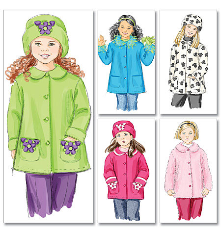 Girls Unlined Coats and Hats pattern