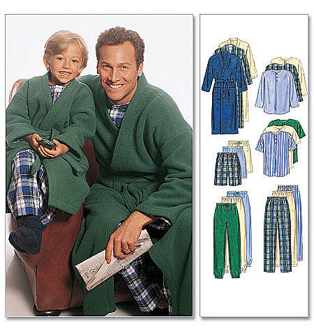 Father & Son Robes & Pajamas pattern-Father & Son Robes & Pajamas pattern