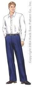 Kwik Sew� Men's Plain Front Pants Pattern-mens pants pattern, pants pattern, mens patterns, menswear, pattern, patterns, kwik sew, kwiksew