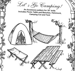"Dolls - Let's Go Camping! set for 18"" doll-Dolls - Let's Go Camping! set for 18"