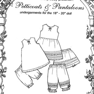 "Dolls - Petticoats & Pantaloons - clothes for 18"" dolls-Dolls - Petticoats & Pantaloons - clothes for 18"