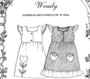 Dolls - &quot;Wendy&quot; Jumper/Pinafore for 18&quot; dolls-Dolls - 
