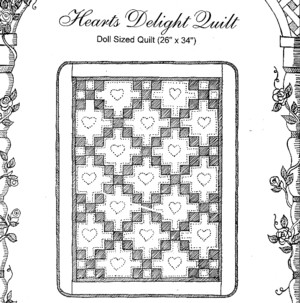 Dolls - Heart's Delight doll-sized quilt-Dolls - Heart's Delight doll-sized quilt