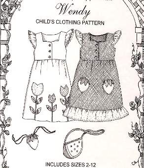 """Wendy"" - Girls Jumper/Pinafore sizes 2-12"