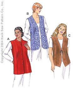 Modest plus-size vest sewing pattern - photo #44