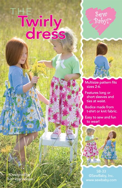 The Twirly Dress-sew baby, sewbaby, twirly dress, girls dress pattern, girls dress, dresses, patterns, sew your own,