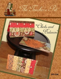 Checks & Balances checkbook cover-Checks & Balances checkbook cover
