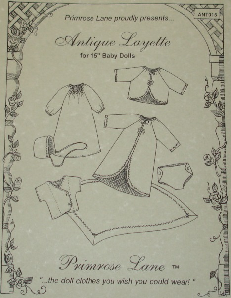 "Antique Layette - for 15"" dolls"