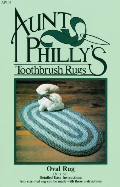 Aunt Philly's Toothbrush Rugs - Oval Rug