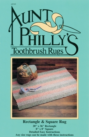 Aunt Philly's Toothbrush Rugs - Rectangle & Square Rug