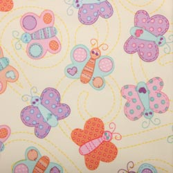 PUL Fabric - Butterflies print-PUL Fabric - Butterflies print