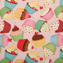 PUL Fabric - Pink Cupcake print-PUL Fabric - Pink Cupcake print